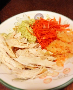 Turkey, Shredded Carrot, Avocado mashed with Dijon, and Homemade Raw Sauerkraut